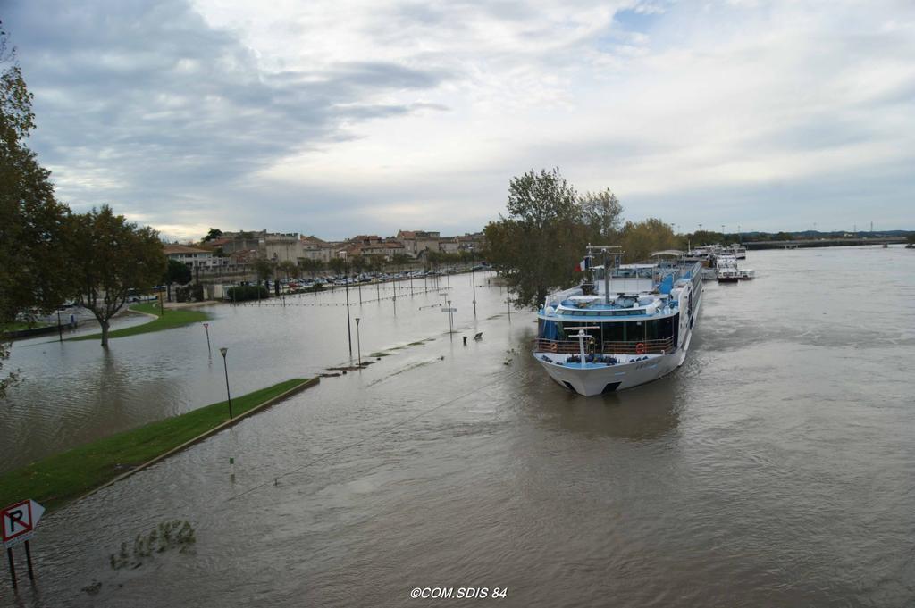 Inondation Avignon : Bord de quai (2) |