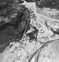 Vue aérienne Guillestre crue de juin 1957 |