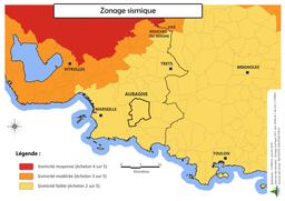 Risque sismique sur la commune d'Aubagne |