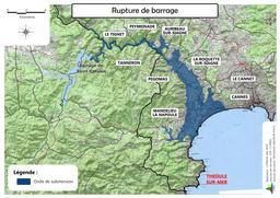 Risque rupture de barrage à Théoule-sur-Mer |