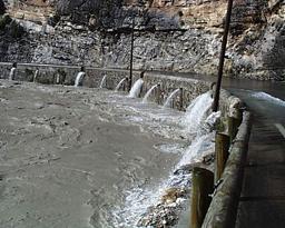Vue pont de Tune inondé 1999 |
