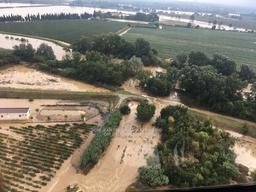 Vue aérienne Inondation Cuxac d'Aude | BARTHEZ Gilles. Photographe