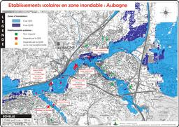 Etablissements scolaires en zone inondable commune d'Aubagne |