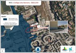 Situation du collège Jules Romains à Nice  |