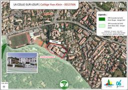 Situation du collège Yves Klein à la Colle-sur-Loup |