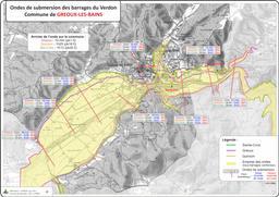 Ondes de sumbersion des barrages du Verdon commune de Gréoux-les-Bains |