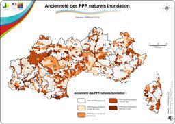 Ancienneté des plans de prévention du risque inondation  |