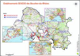 Etablissements classés Seveso dans le département des Bouches-du-Rhône |